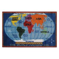 Fun Rugs™ Kids Map 2-Foot 7-Inch x 3-Foot 11-Inch Accent Rug