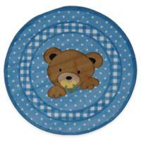 Fun Rugs™ Teddy Blue 39-Inch Round Accent Rug
