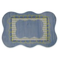 Fun Rugs™ Boys Scalloped 3-Foot 3-Inch x 4-Foot 10-Inch Accent Rug in Blue