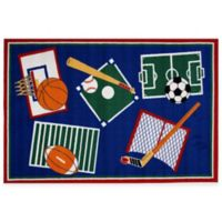 Fun Rugs® Sports A Rama 3-Foot 3-Inch x 4-Foot 10-Inch Accent Rug