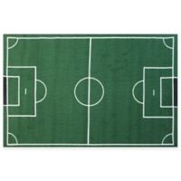 Fun Rugs™ 3-Foot 3-Inch x 4-Foot 10-Inch Soccer Field Rug in Green/White