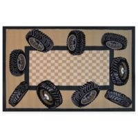 Fun Rugs™ 3-Foot 3-Inch x 4-Foot 10-Inch Tire Border Rug