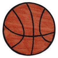 Fun Rugs™ Basketball Shape 39-Inch Round Area Rug in Orange/Black