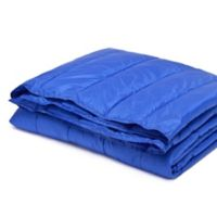 Pouf Water-Resistant Indoor/Outdoor Nylon Throw in Blue