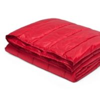 Pouf Water-Resistant Indoor/Outdoor Nylon Throw in Red