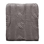 Cable Knit Throw in Charcoal