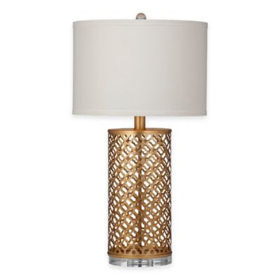 Buy gold leaf lamp table from bed bath beyond bassett mirror company canby table lamp in gold leaf aloadofball Images