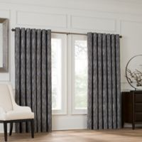 Valeron Lustre Grommet Top 84-Inch Window Curtain Panel in Silver