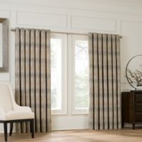 Valeron Lustre Grommet Top 108-Inch Window Curtain Panel in Sand