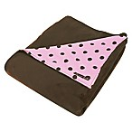 Trend Lab® Maya 2-Layer Dot Receiving Blanket in Pink/Brown