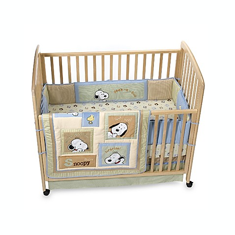 Peek A Boo Snoopy Crib Bedding Set