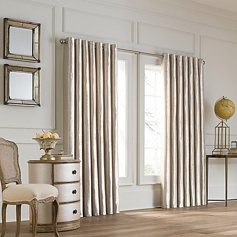 buy valeron lustre grommet top 108 inch wide x 120 inch long window curtain panel in pearl from. Black Bedroom Furniture Sets. Home Design Ideas