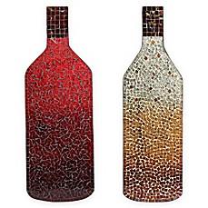 Wine Bottle Wall Art mosaic red wine bottle wall art - bed bath & beyond