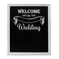 """Welcome Wedding"" Framed Chalkboard Wall Plaque"