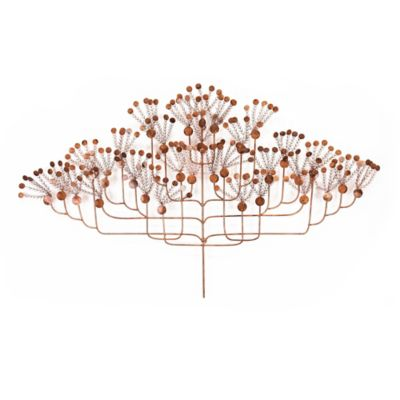 Copper Tree Metal Wall Art Sculpture