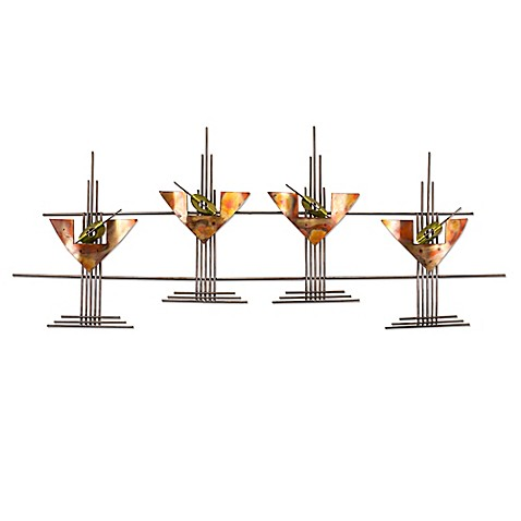 Buy Martini Glasses Metal Wall Art Sculpture From Bed Bath Beyond