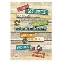 """My Pets"" Canvas Wall Art"