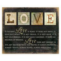 """Love Always"" Canvas Wall Art"