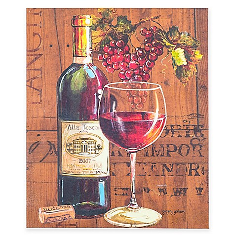 Enjoy Red Wine Canvas Wall Art Bed Bath Amp Beyond