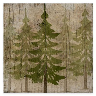 Pine Tree Forest Gallery Canvas Wall Art