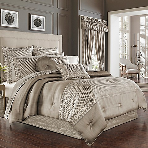 J queen new york bohemia comforter set in champagne bed - Bed bath and beyond bedroom furniture ...