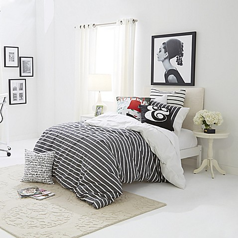 Classic graphic kate spade new york harbour stripe bed for Bed bath and beyond kate spade