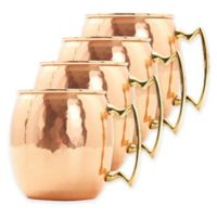 Old Dutch International 16 oz. Solid Copper Hammered Moscow Mule Mugs (Set of 4)