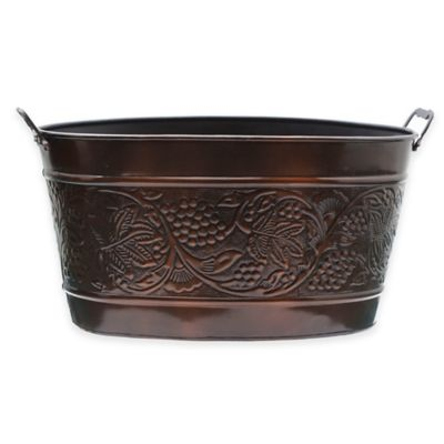 Old Dutch International Antique Copper Plated Heritage Beverage Tub In  Antique Copper