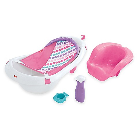 fisher price 4 in 1 sling n seat bath tub in pink white bed bath beyond. Black Bedroom Furniture Sets. Home Design Ideas