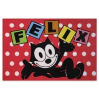 Fun Rugs® Felix the Cat Dots 1-Foot 7-Inch x 2-Foot 5-Inch Accent Rug in Red