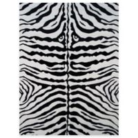 Fun Rugs™ Zebra Skin 1-Foot 7-Inch x 2-Foot 5-Inch Accent Rug in White/Black