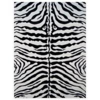 Fun Rugs™ Zebra Skin 1-Foot 7-Inch x 2-Foot 5-Inch Accent Rug in White/Black