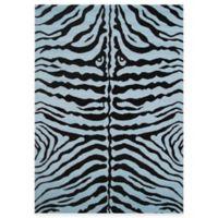 Fun Rugs™ Zebra Skin 1-Foot 7-Inch x 2-Foot 5-Inch Accent Rug in Blue/Black