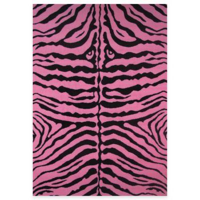Fun Rugs™ Zebra Print 3 Foot 3 Inch X 4 Foot