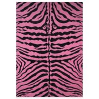 Fun Rugs™ Zebra-Print 1-Foot 7-Inch x 2-Foot 5-Inch Rug in Pink