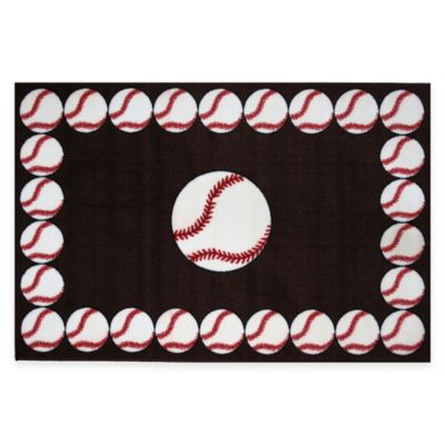 Fun Rugs™ Baseball Time 1 Foot 7 Inch X 2 Foot 5