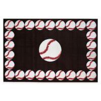 Fun Rugs™ Baseball Time 1-Foot 7-Inch x 2-Foot 5-Inch Rug