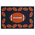Fun Rugs™ Football Time 3-Foot 3-Inch x 4-Foot 10-Inch Rug