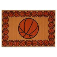 Fun Rugs™ Basketball Time 1-Foot 7-Inch x 2-Foot 5-Inch Rug