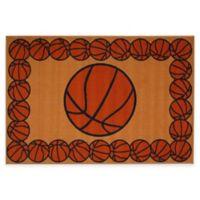 Fun Rugs™ Basketball Time 1-Foot 7-Inch x 2-Foot 5-Inch Rug