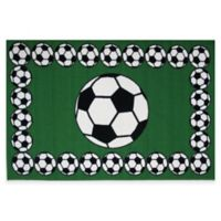 Fun Rugs™ Soccer Time 3-Foot 3-Inch x 4-Foot 10-Inch Rug