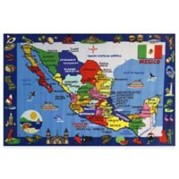 Fun Rugs 4-Foot 3-Inch x 6-Foot 6-Inch Map of Mexico Area Rug