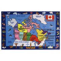 Fun Rugs Fun Time Map of Canada 4-Foot 3-Inch x 6-Foot 6-Inch Area Rug