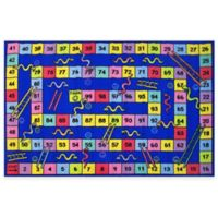 Fun Rugs Fun Time 4-Foot 3-Inch x 6-Foot 6-Inch Snakes & Ladders Rug