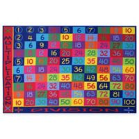 Fun Rugs Fun Time 5-Foot 3-Inch x 7-Foot 6-Inch Multiplication Rug