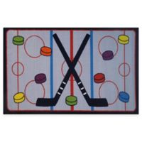 Fun Rugs™ On The Ice 3-Foot 3-Inch x 4-Foot 10-Inch Hockey Rug