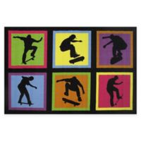 Fun Rugs™ Skateboarding Fun 1-Foot 7-Inch x 2-Foot 5-Inch Fun Rug