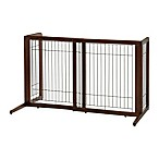 Freestanding Pet Barrier in Dark Brown