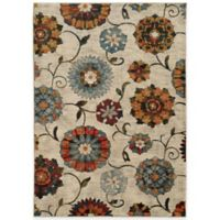 Oriental Weavers Sedona Floral 5-Foot 3-Inch x 7-Foot 6-Inch Area Rug in Ivory