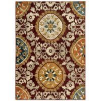 Oriental Weavers Sedona Medallion 3-Foot 10-Inch x 5-Foot 5-Inch Area Rug in Red